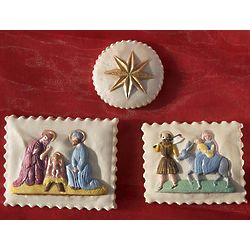 Nativity Springerle Cookies Gift Tin