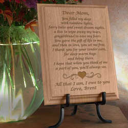 Personalized Mom Poem Wooden Plaque