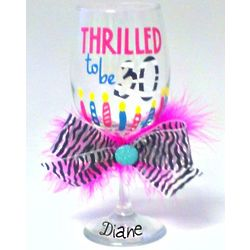 Personalized 30th Wine Glass
