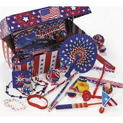 Patriotic Treasure Chest Toy Assortment