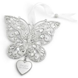 Make-a-Wish Butterfly Christmas Ornament