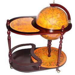 Arezzo Italian Style Trolley Globe Bar