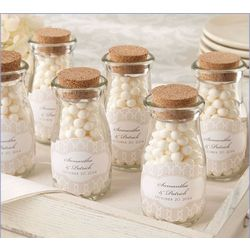 Vintage Milk Favor Jars