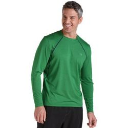 Men's Long Sleeve Aqua T-Shirt