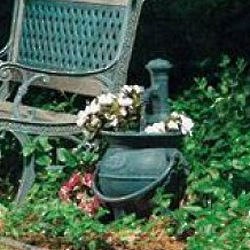 Cottage Fountain Cauldron with Planter