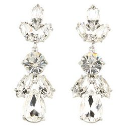New York Crystal Petals Drop Earrings