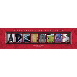 University of Arkansas College Art Print