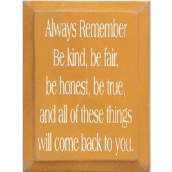 Always Remember Wood Plaque