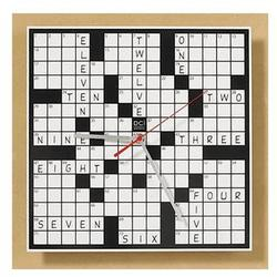 Crossword Puzzle Clock