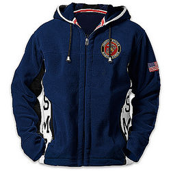 United States Marines Semper Fi Men's Hooded Fleece Jacket