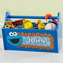 Personalized Cookie Monster Storage Caddy