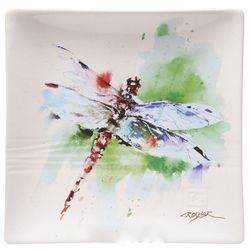 Dragonfly Watercolor Snack Plate