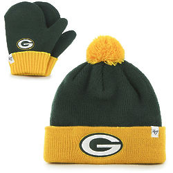 Infant's Green Bay Packers Knit Hat and Mittens Gift Set