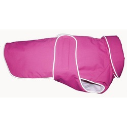 Waterproof Fleece Lined Dog Coat with Reflective Piping