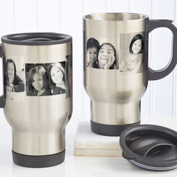 Photo Collage Personalized Travel Mug