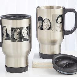 Photo Collage Personalized Travel Mug