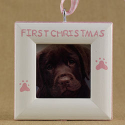 First Christmas Pet Ornament