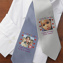 Personalized Photo Message Men's Tie