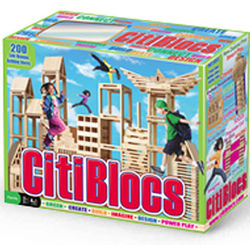 Citiblocs Wooden Building Set - 200 Pieces