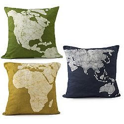 Batik Continent Pillows