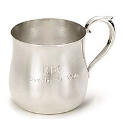 Personalized Plain Silver Child Cup