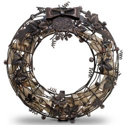 Wine Cork Cage Wreath