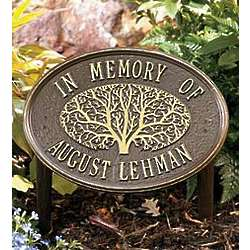 Personalized Oak Tree Memorial Plaque