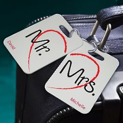 Personalized Couples Sojourn Luggage Tag