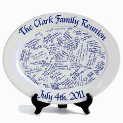 Personalized Reunion Signature Platter