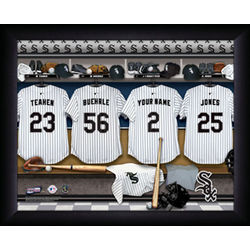 Personalized Chicago White Sox MLB Locker Room Print