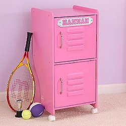 Pink Girl's Personalized Storage Locker