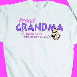 Proud Grandma of Baby Girl Sweatshirt
