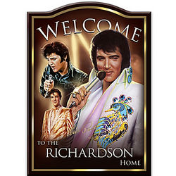 Personalized Elvis Presley Welcome Sign