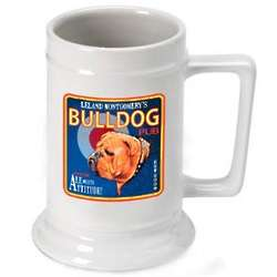 Personalized Bulldog Beer Stein