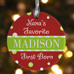 I am the Favorite Personalized Kid's Ornament