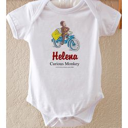 Curious George Personalized Baby Bodysuit