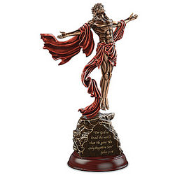 The Power of Faith Jesus Christ Masterpiece Bronze Sculpture