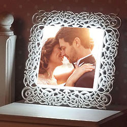Custom 10x10 Framed Photo Light