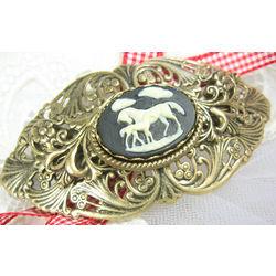 Victorian Horse Cameo Barrette