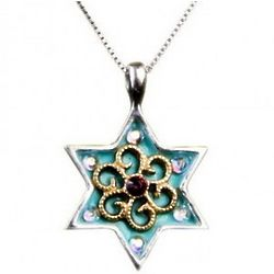 Star of David Turquoise Necklace