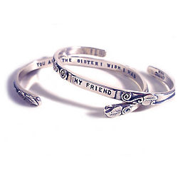 My Friend, You Are the Sister I Wish I Had Cuff Bracelet