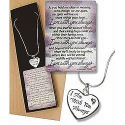 I Am With You Always Necklace and Card