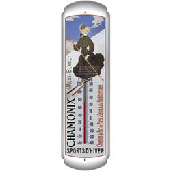 Chamonix Mont-Blanc Ski Thermometer
