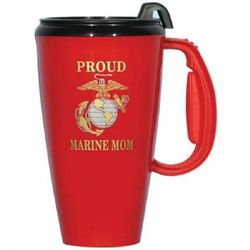 Proud Marine Mom Travel Mug