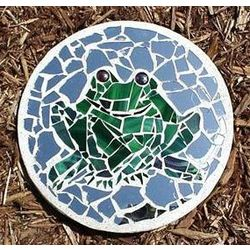 Happy Frog Stained Glass Stepping Stone