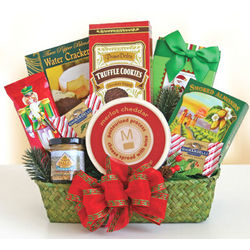 Evergreen Holiday Snack Basket