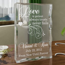 Personalized Love Always Plaque