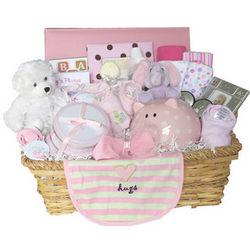 Baby Girl's Memory Gift Basket