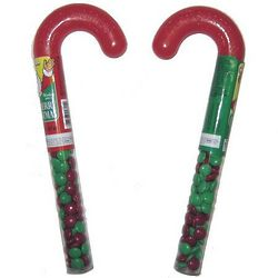 Chocolate Filled Plastic Canes 36 Ct