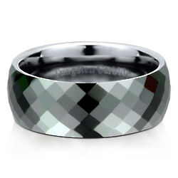 Multi-Faceted Domed Tungsten Carbide Ring